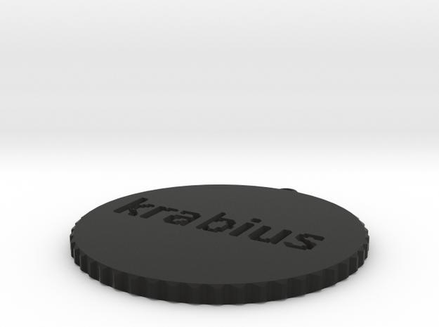 by kelecrea, engraved: krabius 3d printed