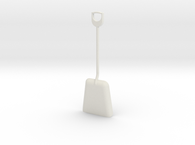 1/8 size coal shovel in White Natural Versatile Plastic