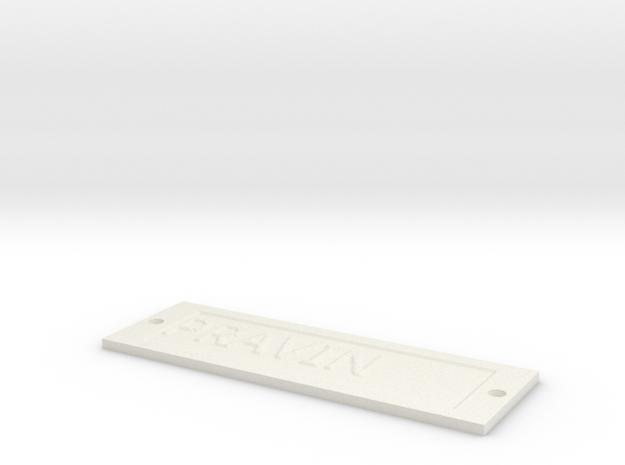 by kelecrea, engraved: PRAVIN in White Natural Versatile Plastic