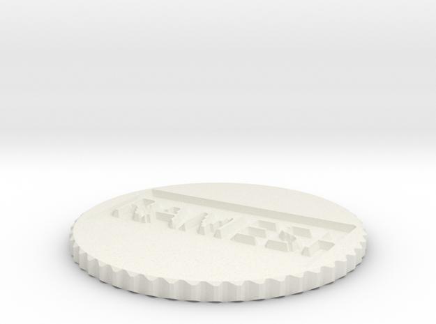 by kelecrea, engraved: RAMESH in White Natural Versatile Plastic