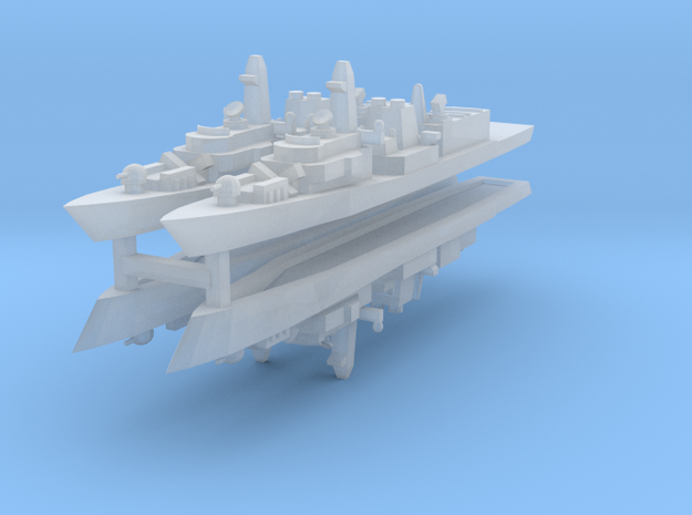 UK Type 23 1:3000 x4 3d printed