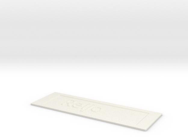by kelecrea, engraved:    Reijo in White Strong & Flexible