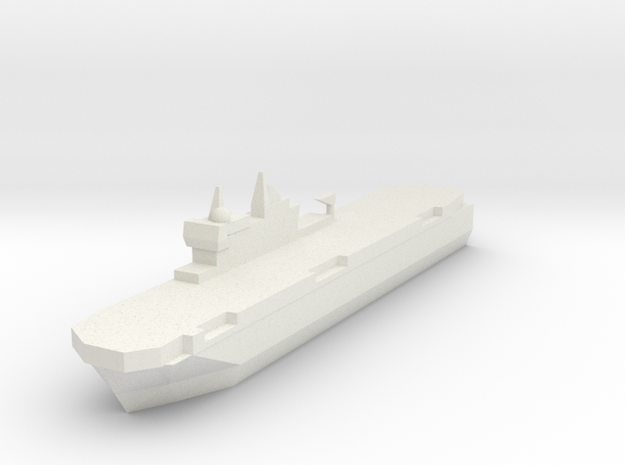 French Mistral Assault Ship 1:2400 in White Natural Versatile Plastic