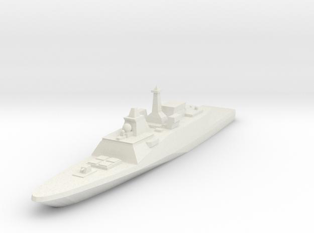 FREMM Frigate 1:2400 in White Natural Versatile Plastic