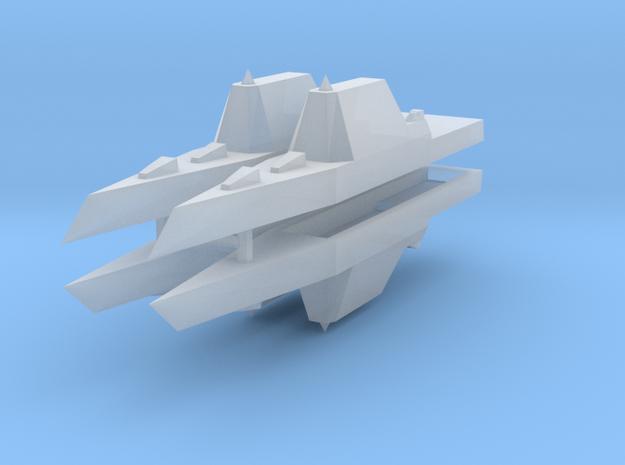 Zumwalt Class Destroyer 1:3000 x4 3d printed