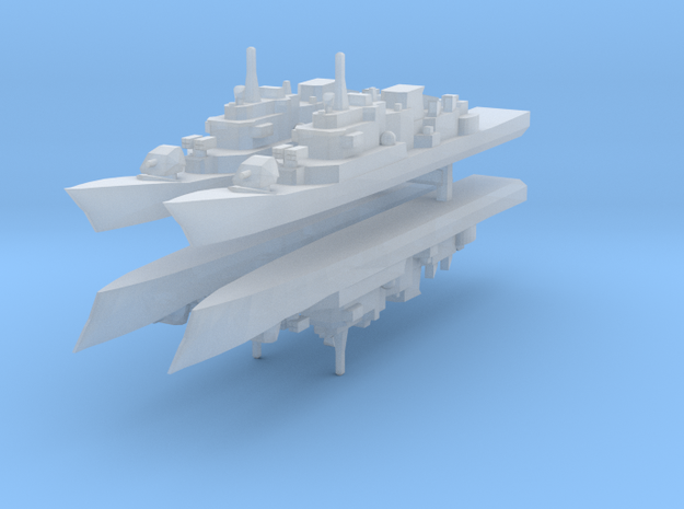 Maestrale frigate 1:3000 x4 in Smooth Fine Detail Plastic