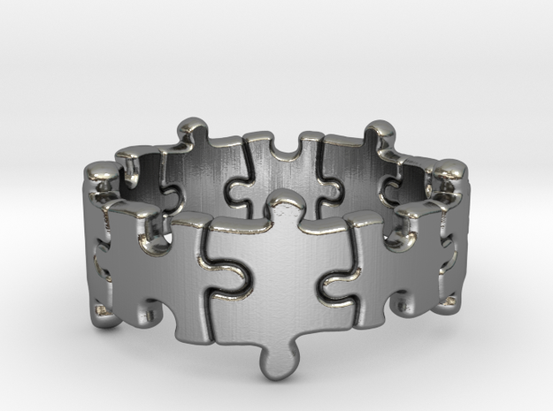 Puzzle Ring 01 size 8 3d printed