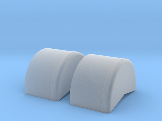 1/12 scale 40 inch Wheel Tubs in Smooth Fine Detail Plastic