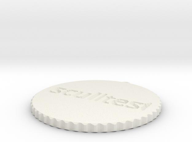 by kelecrea, engraved: sculltest in White Natural Versatile Plastic