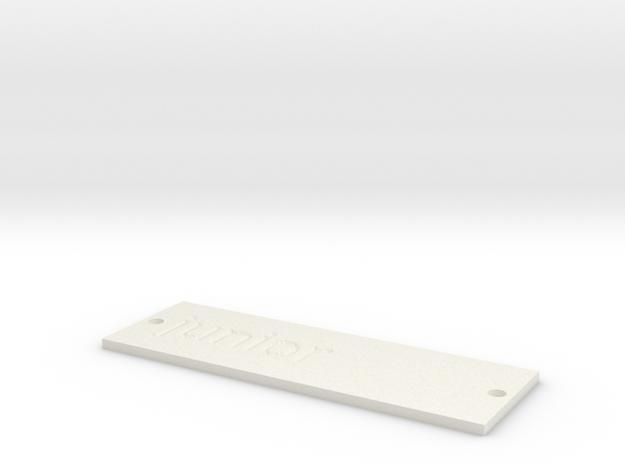 by kelecrea, engraved: junior  in White Strong & Flexible