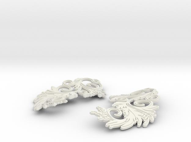 Blossom Earrings 3d printed Blossom earrings