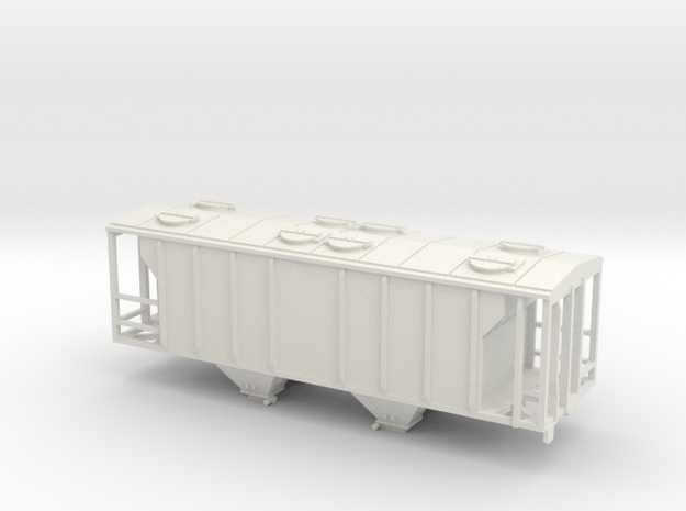 PS2 2 Bay Covered Hopper Body TT Scale 3d printed