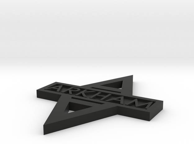 Arkham Logo double sided 3d printed