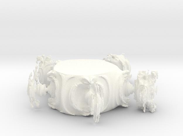 Juliabulb-transpoly-doorsnede in White Processed Versatile Plastic