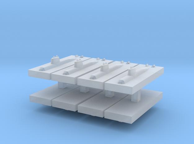HDW 212 Submarine 1:6000 x8 in Smooth Fine Detail Plastic