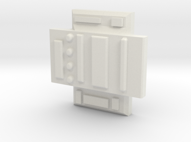 Colonial Defender Cross Piece in White Natural Versatile Plastic