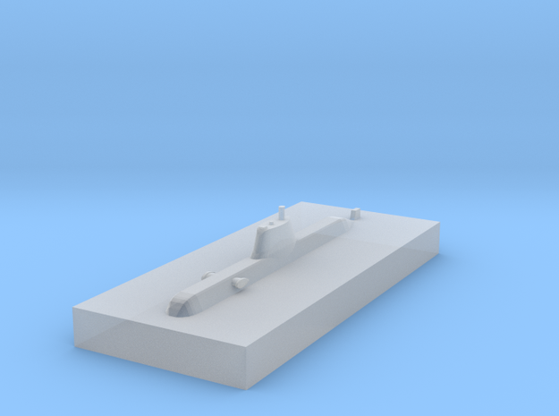 HDW 214 Submarine 1:3000 x1 in Smooth Fine Detail Plastic