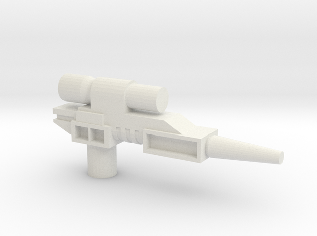 Classics pistol model one in White Natural Versatile Plastic