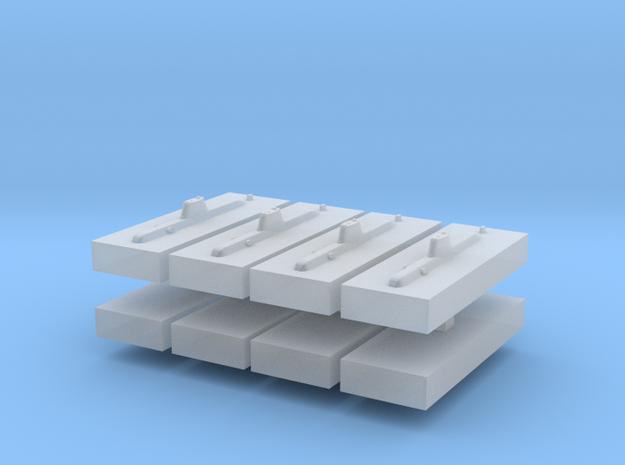 HDW 214 Submarine 1:6000 x8 3d printed