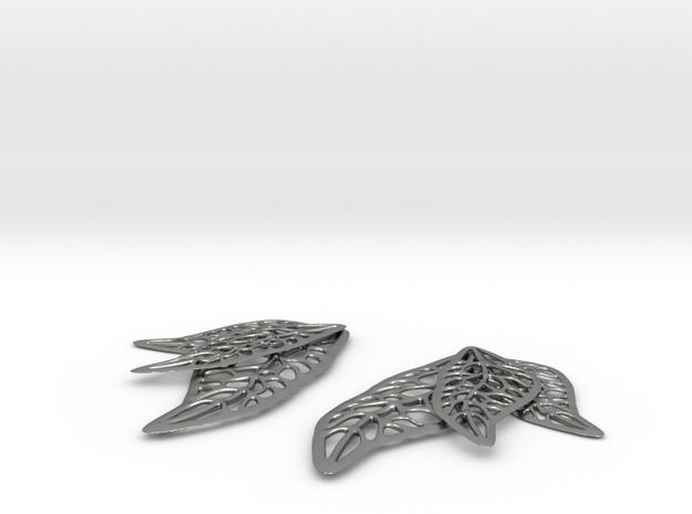 three leaf earring 3d printed
