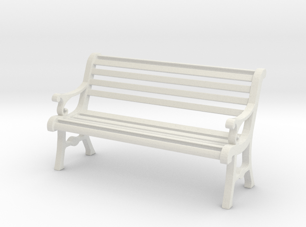 1:24 Garden Bench in White Natural Versatile Plastic