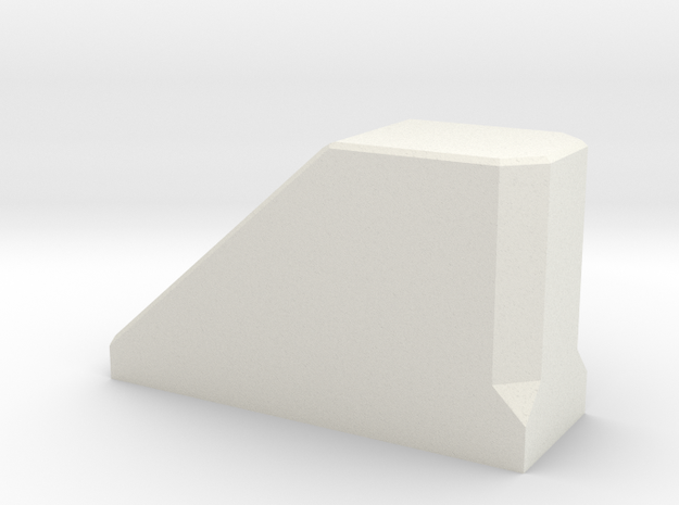 Stopblock-1 in White Natural Versatile Plastic