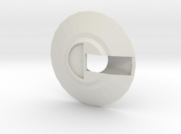 UFO body2 in White Natural Versatile Plastic