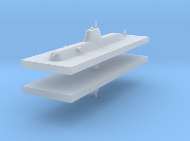 HDW 214 Submarine 1:2400 x2 3d printed
