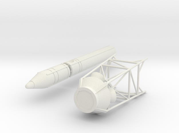 Apollo LES Tower- 1:25 in White Natural Versatile Plastic