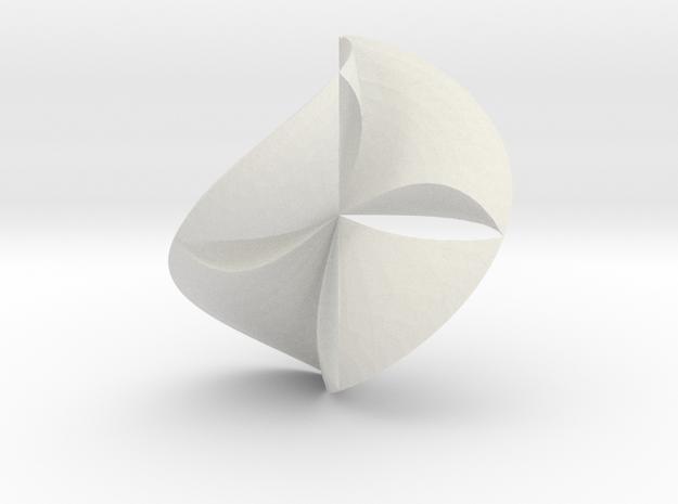 third of plane in White Natural Versatile Plastic