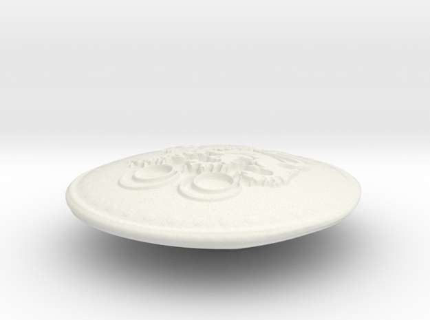 Cavanaugh Shield in White Natural Versatile Plastic
