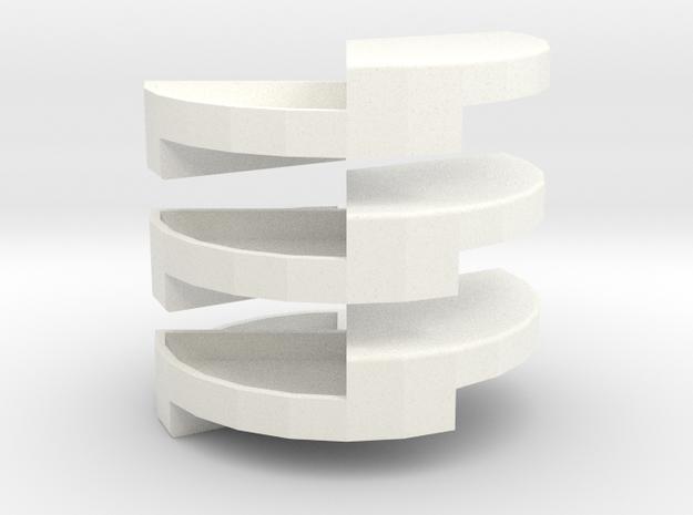 Penrose Puzzle in White Processed Versatile Plastic
