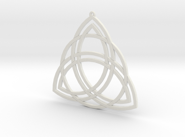 Triquetra in White Natural Versatile Plastic