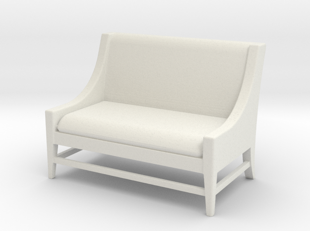 1:24 Slipper Sofa in White Natural Versatile Plastic
