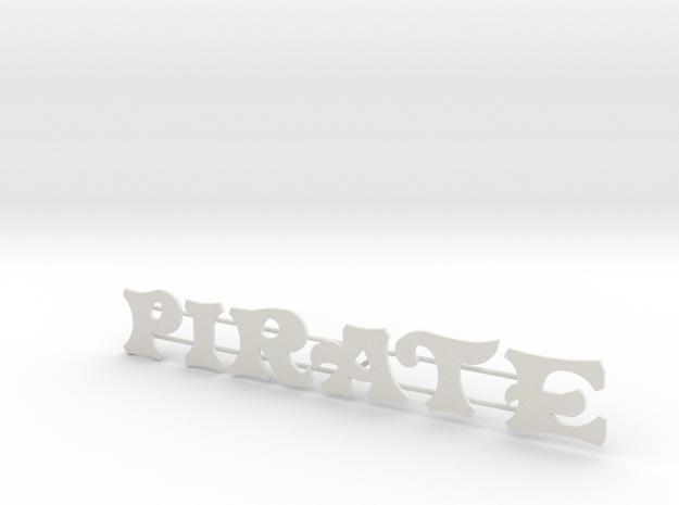 """Schild """"Pirate"""" für 1:87 in White Strong & Flexible"""