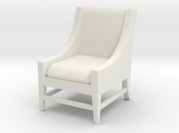 1:24 Slipper Chair in White Natural Versatile Plastic