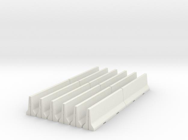 02.012.001_Betonschutzwand 12Stck (1/87) in White Strong & Flexible