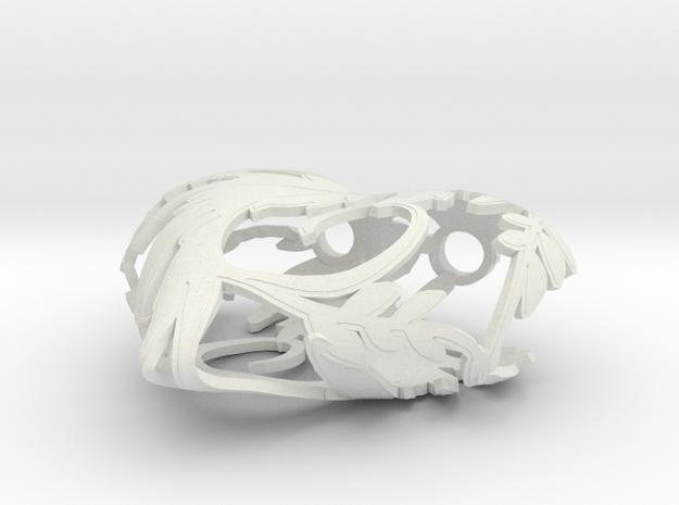 Blossom heart in White Natural Versatile Plastic
