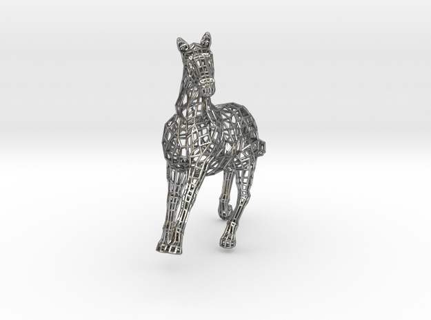 2014 Year of the Horse- Polished Gold 3d printed