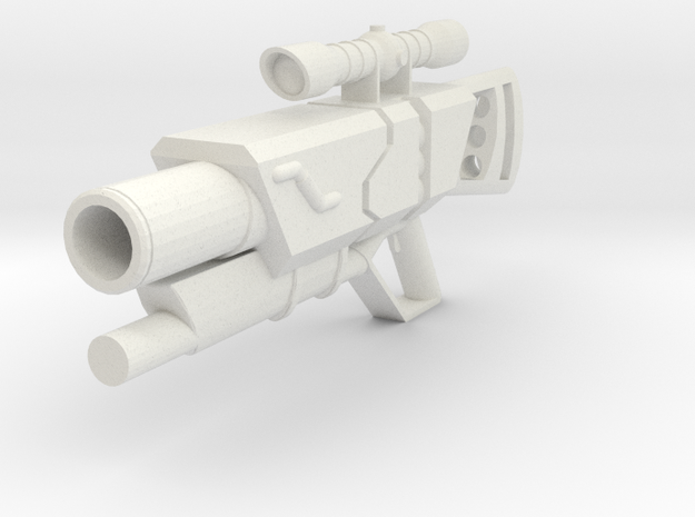 Minifig gun 02 in White Natural Versatile Plastic