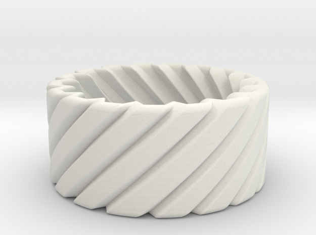 Twisted ring - Martin Lim 3d printed
