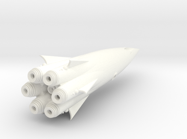 """Cohete"" Class SpaceShip Heavy Armed. 3d printed"