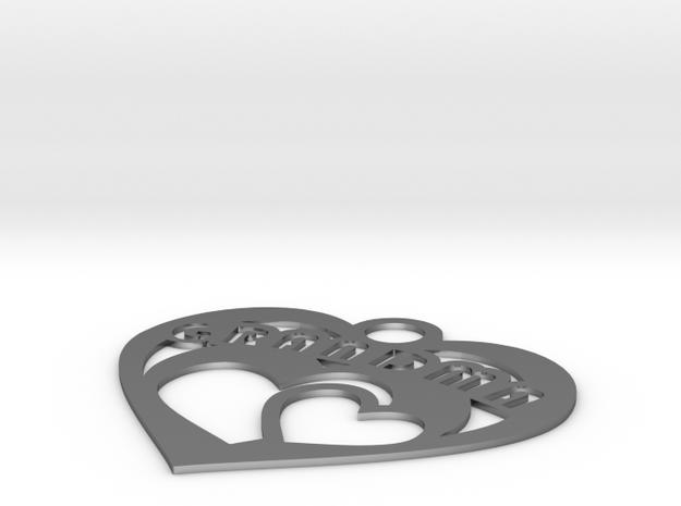 Heart Grandma Necklace Charm 3d printed
