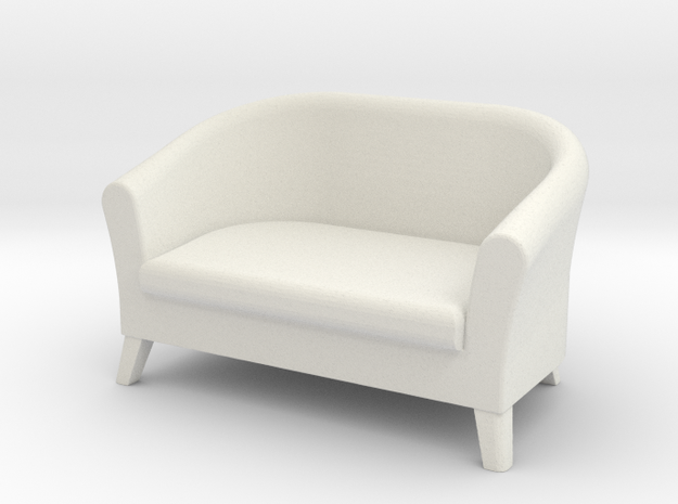 1:24 Club Sofa in White Natural Versatile Plastic