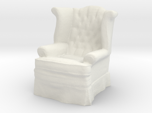 1:24 Tufted Chair in White Natural Versatile Plastic