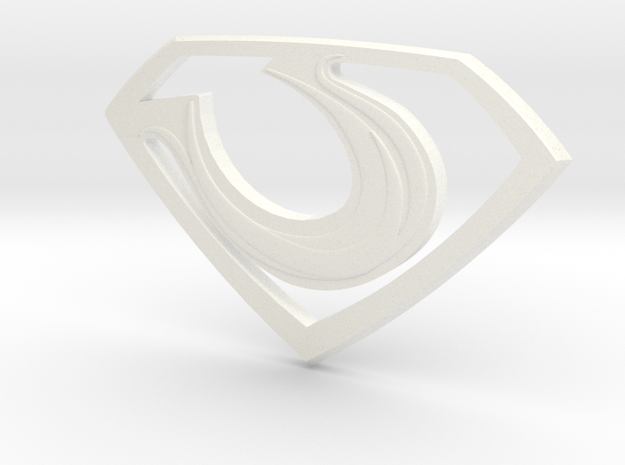 "Zod ""Man of Steel"" Double Sided in White Processed Versatile Plastic"