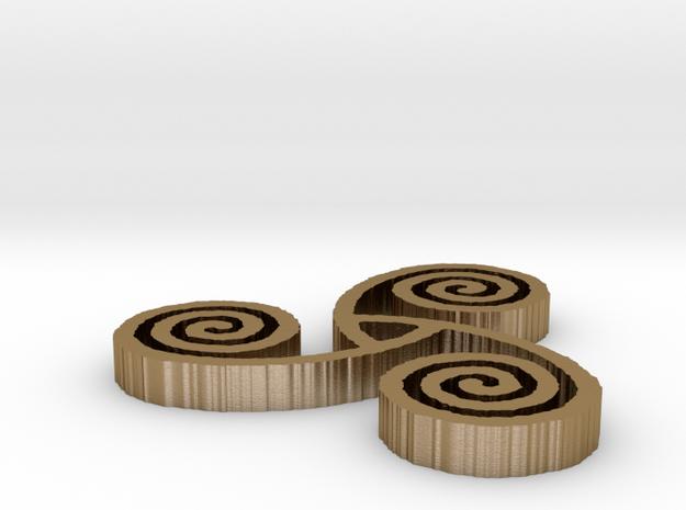"Celtic Triple Spiral (1"") 3d printed"