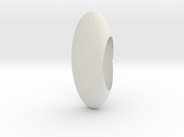 Logoid Joukowski transformed in White Natural Versatile Plastic