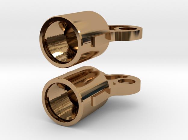 Winding Key earring valve caps 3d printed