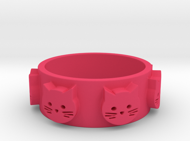 Ring of Seven Cats Ring Size 7.5 3d printed